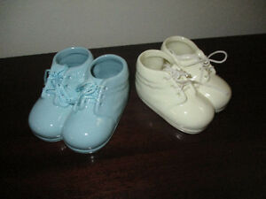 Pair of Porcelain Baby Booties