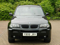 2006 06 BMW X3 3.0d M Sport Auto WITH SPECIAL ORDER TAN LEATHER+SATNAV+FSH