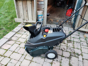 "21"" Bolens electric start snow blower"
