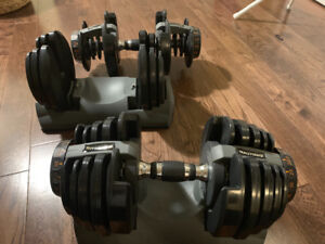 Nautilus strength dumbbells weights pair 52.5 lifting home gym