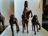 *** Hand Made Leather Wrapped horse Decor $5 each***