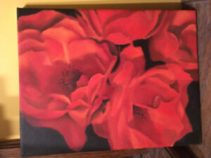 Oil painting11x14 roses.