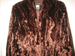 New Price - New Bianca Nygard brown faux fur 3/4 length jacket