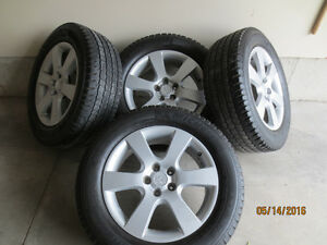 "4 Alloy Wheels 18"" x 8"" with 4 Michelin All Season Tires"