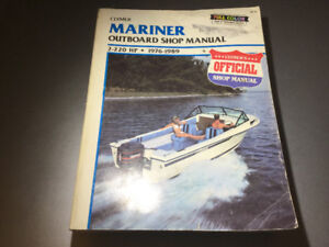 1976-1989 Mariner 2-220 HP Outboards Manual 2-6 Cyl Inline & V6