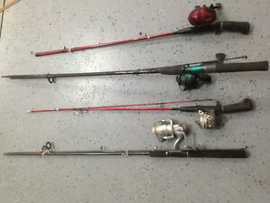 Fishing rods with reals & tackle box
