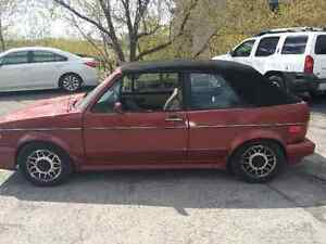 1985 Volkswagen Cabrio Convertible