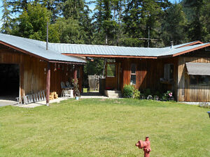 RIVERFRONT HOME & PROPERTY IN VAVENBY BC ON NORTH THOMPSON RIVER