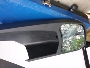 Slide on towing mirrors