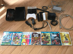 WiiU with Accessories and Games