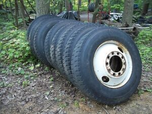 TRUCK RIMS AND TIRES 11R 24.5