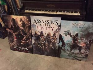Selling wood assassins creed posters Belleville Belleville Area image 4