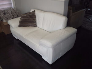 Real Leather sofa / couch and love seat