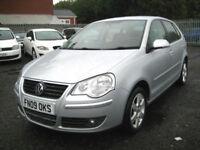 """2009/09 Volkswagen Polo 1.4 80ps Match 5 Door in Met Silver """"ONLY £2495"""""""