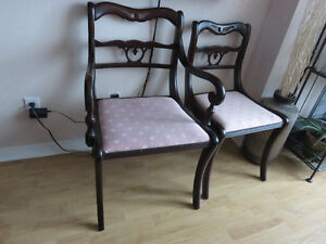 MAHOGANY CHAIRS, HERS AND HIS