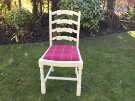 4 Kitchen /Dining Chairs....painted & upholstered