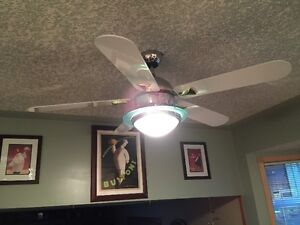 Deluxe chrome and white ceiling fan Edmonton Edmonton Area image 2