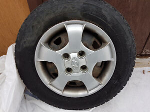 P155 80R13 Studded Winter Tires (4 tires) (Winterforce) on Rims