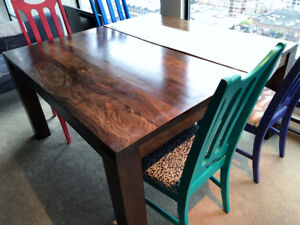 HARDWOOD TABLE + TABLE SET FOR SALE ( 8 seater)