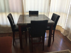 MARBLE DESIGN DINNING TABLE COUNTER 4X4
