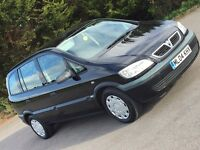 2004 VAUXHALL ZAFIRA 1.6 16v LIFE MPV 7 SEATS 12 MONTHS MOT