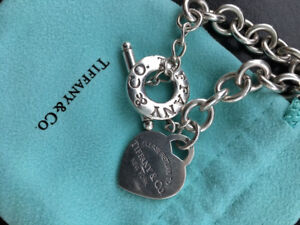 Tiffany silver Heart Tag Toggle Necklace