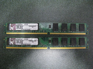Kingston 2 x 2g DDR2 800 Desktop Ram