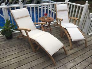 Teak Pool Loungers ~ Superior Comfort & Quality!