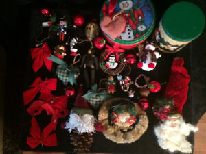 Assorted Christmas Ornaments Decorations and Lights