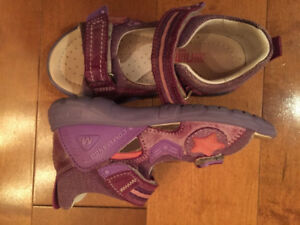 Girls leather shoes size 27