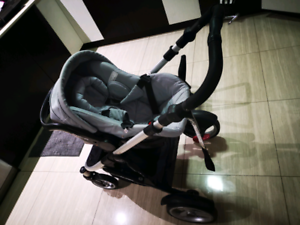 Steelcraft baby capsule, base and strider compact frame
