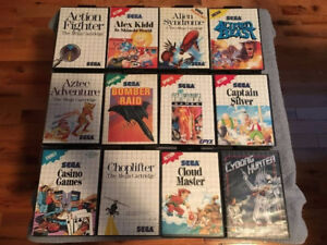 SEGA MASTER SYSTEM GAMES SOME BOXES AND MANUALS - Dec 8/17