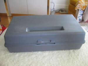 FROM DAD'S TOOL BENCH...THICK MOLDED PLASTIC TOOLBOX