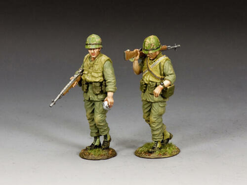 """King and Country VN110 """"USMC On Patrol"""" 1/30 Vietnam Metal Toy Soldiers"""
