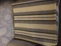 Striped Vintage Welsh Woolen Blanket 200x180. Ideal Xmas Present.