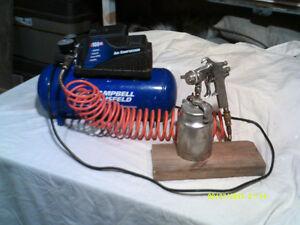 Air compressor/Brad-Nailer/Spray-Gun