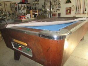 Bar slate pool table.