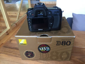 Nikon D80 Body only for parts