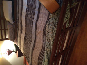 $200 obo Leon's Bedroom set...Queen bed with box spring...dresse