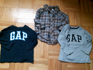 3 Gap Shirts- 12-18months $5 for all
