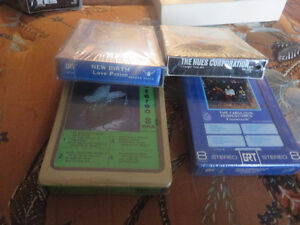 lot of 4 different unopen 8 track tapes