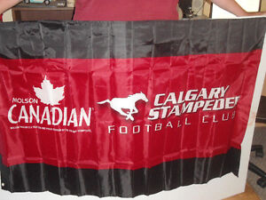 molson canadian calgary stampers flags