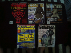 5 back issues of Star Wars Insider. Hard to come by.