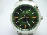 Milgauss 116400 GV Green Sapphire glass and black dial