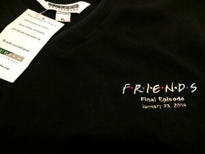Friends pullover with logo and last episode date