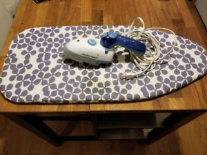 Ironing Board and Travel Iron