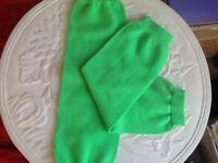💚👯pair of fluorescent green leg warmers as new