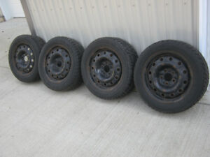 Set of four Winter tires on Mazda 3 steel rims
