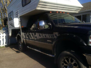 2003 Ford F-350 Lariat Pickup Truck with camper