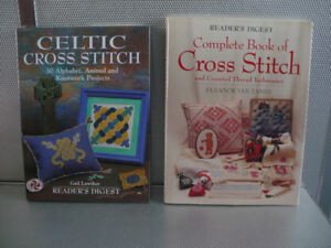 CROSS STITCH ( 2 BOOKS ) ( $ 8.00 EACH )( 2 FOR $ 14.00 )